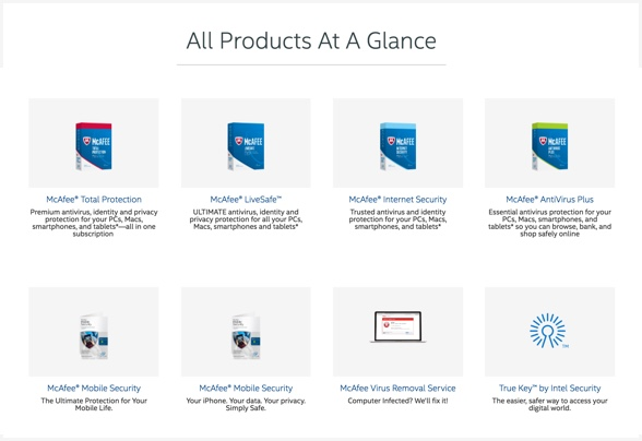 McAfee has several products available.